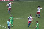 12.05.2018, Volksparkstadion, Hamburg, GER, 1.FBL. Hamburger SV vs Borussia Moenchengladbach,  im Bild   <br /> <br /> 2 zu 1 Lewis Holtby (Hamburger SV #08)<br /> <br /> jubel <br /> <br /> Foto &copy; nordphoto / Kokenge