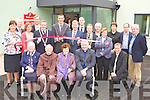Kieran Donaghy cuts the tape to officially open Killarney Nursing Home on Tuesday front row l-r: Sr Rupert, Br Sean, Sr Margaret Fitzgerald, Fr Nicolas, Rev Susan Watterson, Colm Galvin. Back row: Sheila Marie Fitzgerald Retirement Village Manager, John Shee, Joe Hanrahan, Kieran Donnaghy, Pat Shanahan Chairman, Justin Healy, Donnacha Galvin, Hugh Murray, Joan Daly, Dr Darren Quirke and Jerry Galvin