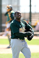 Archie Gilbert, Oakland Athletics 2010 minor league spring training..Photo by:  Bill Mitchell/Four Seam Images.