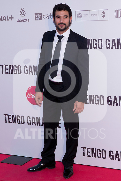 20.06.2012. Premier in the Callao cinema in Madrid in the ´Tengo Ganas de Ti´,  directed by Fernando Gonzalez Molina and starring Mario Casas, Clara Lago and Maria Valverde. In the image Antonio Velazquez  (Alterphotos/Marta Gonzalez)
