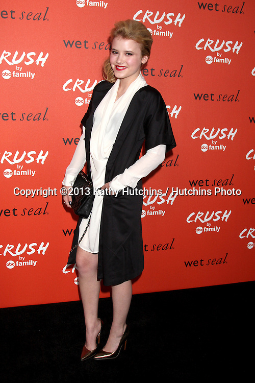LOS ANGELES - NOV 6:  Taylor Spreitler at the CRUSH by ABC Family Clothing Line Launch at London Hotel on November 6, 2013 in West Hollywood, CA