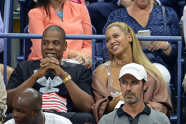 FLUSHING NY- SEPTEMBER 01: Jay Z and Beyonce seen watching Serena Williams Vs Vania King at the USTA Billie Jean King National Tennis Center on September 1, 2016 in Flushing, Queens. Credit: mpi04/MediaPunch