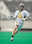 1 April 2008: University of Vermont Catamounts' Liam Teer, a Freshman from Vancouver, British Columbia, in action against the Fairfield University Stags at Moulton Winder Field, in Burlington, Vermont. The Catamounts rallied to overcome a five goal deficit and defeat the visiting Stags 9-8 notching their third win of the season...Mandatory Photo Credit: Ed Wolfstein Photo
