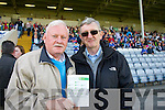 Pat o'Connor Killarney and Maurice Nagle barraduff supporting Kerry at the All Ireland Junior Football Final in Portlaoise on Saturday