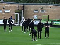 MK Dons players have a quick look at the pitch prior to kick-off during Forest Green Rovers vs MK Dons, Caraboa Cup Football at The New Lawn on 8th August 2017