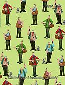 Kate, GIFT WRAPS, GESCHENKPAPIER, PAPEL DE REGALO, paintings+++++Riverbank wrap,GBKM407,#gp#, EVERYDAY ,golf,