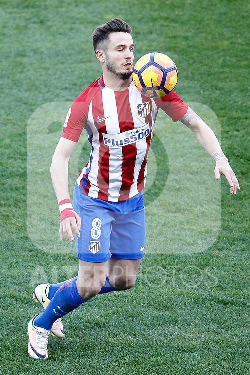 Atletico de Madrid's Saul Niguez during La Liga match. February 26,2017. (ALTERPHOTOS/Acero)