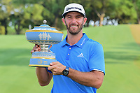 Dustin Johnson (USA) holds the Walter Hagen Cup following  round 7 of the World Golf Championships, Dell Technologies Match Play, Austin Country Club, Austin, Texas, USA. 3/26/2017.<br /> Picture: Golffile | Ken Murray<br /> <br /> <br /> All photo usage must carry mandatory copyright credit (&copy; Golffile | Ken Murray)