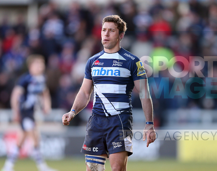 Chris Cuister of Sale Sharks - Aviva Premiership - Sale Sharks vs Saracens - AJ Bell Stadium Stadium - Salford - Manchester - England - 21st February 2015 - Picture Simon Bellis/Sportimage