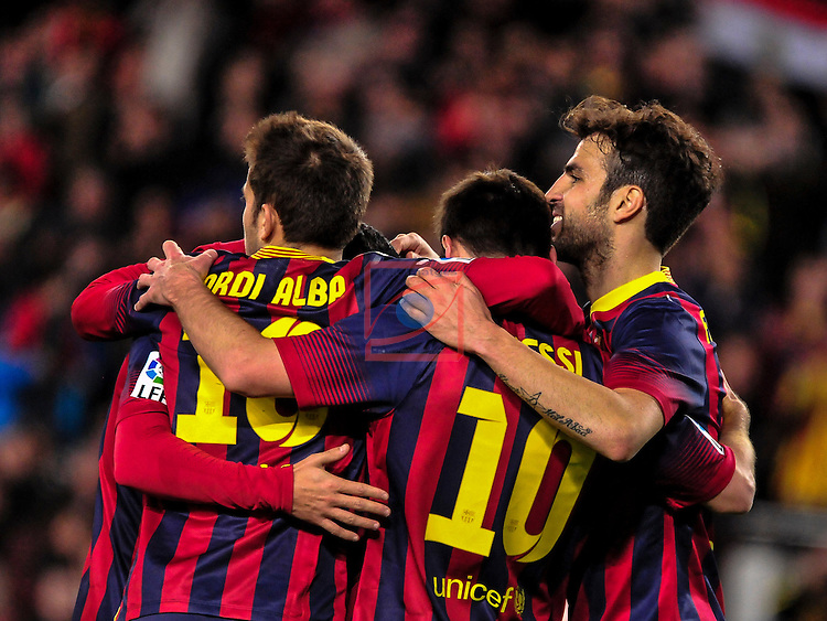 League BBVA 2013/2014 - Game: 21.<br /> FC Barcelona vs Malaga CF: 3-0.