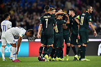 Federico Bernardeschi of Italy celebrates with team mates after scoring the goal of 2-0 <br /> Roma 12-10-2019 Stadio Olimpico <br /> European Qualifiers Qualifying round Group J <br /> Italy - Greece <br /> Photo Andrea Staccioli/Insidefoto