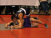 Andy Rodriguez and Josh Veltre wrestle at the 135 weight class during the NY State Wrestling Championships at Blue Cross Arena on March 8, 2008 in Rochester, New York.  (Copyright Mike Janes Photography)