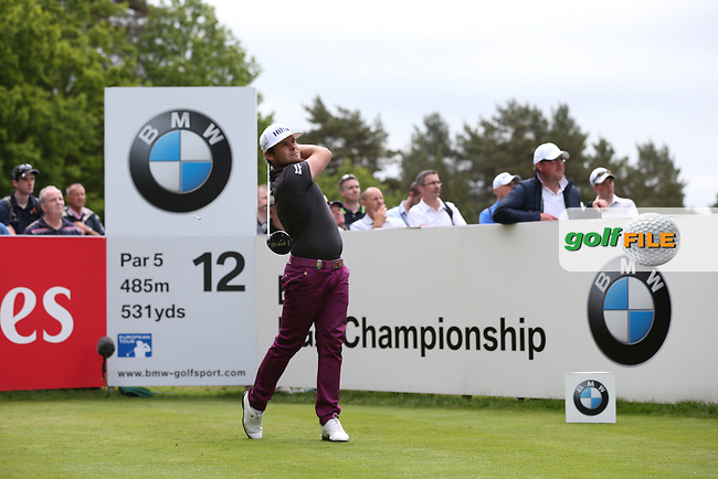 Tyrrell Hatton (ENG) during Round Two of the 2015 BMW PGA Championship over the West Course at Wentworth, Virginia Water, London. 22/05/2015Picture David Lloyd, www.golffile.ie.