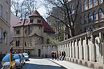The Ceremonial Hall and mortuary, part of the Jewish Museum, was designed by architect J. Gerstl and built in 1911 - 1912 for use by the Jewish Burial Society, Josefov, the Jewish Quarter, Prague, Czech Republic, Europe