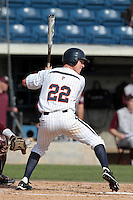 Floyd Given #22 of the Pepperdine Waves bats against the Texas A&M Aggies at Eddy D. Field Stadium on March 23, 2012 in Malibu,California. Texas A&M defeated Pepperdine 4-0.(Larry Goren/Four Seam Images)