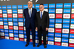 CEO of Endesa, Jose Bogas and the ACB president Francisco Roca during the presentation of the new season of La Liga Endesa 2016-2017 in Madrid. September 20, 2016. (ALTERPHOTOS/Borja B.Hojas)