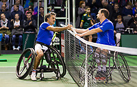 Rotterdam, The Netherlands, 14 Februari 2019, ABNAMRO World Tennis Tournament, Ahoy, Wheelchair, Final, Stephane Houdet (FRA) vs. Joachim Gerard (BEL),<br /> Photo: www.tennisimages.com/Henk Koster