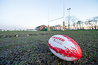 Picture by Allan McKenzie/SWpix.com - 25/02/2019 - Rugby League - CreatedBy RLWC2021 - South Leeds Spartans - Leeds Corinthians RUFC, Middleton, England - South Leeds Spartans, ground, Created By RLWC2021, ball, branding.