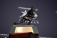 The Heisman Memorial Trophy on display during the 2013 announcement in New York City.  (Photo by Don Baxter/Media Images International)
