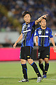 (L-R) Yasuhito Endo, Takahiro Futagawa (Gamba), SEPTEMBER 10, 2011 - Football / Soccer : 2011 J.League Division 1 match between Gamba Osaka 2-0 Omiya Ardija at Expo '70 Stadium in Osaka, Japan. (Photo by AFLO)