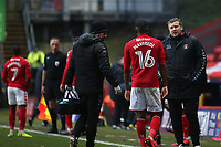 Charlton Manager, Karl Robinson shows his concern as Stephy Mavididi of Charlton, currently on loan from Arsenal, leaves the field in the second half with an injury during Charlton Athletic vs Oxford United, Sky Bet EFL League 1 Football at The Valley on 3rd February 2018