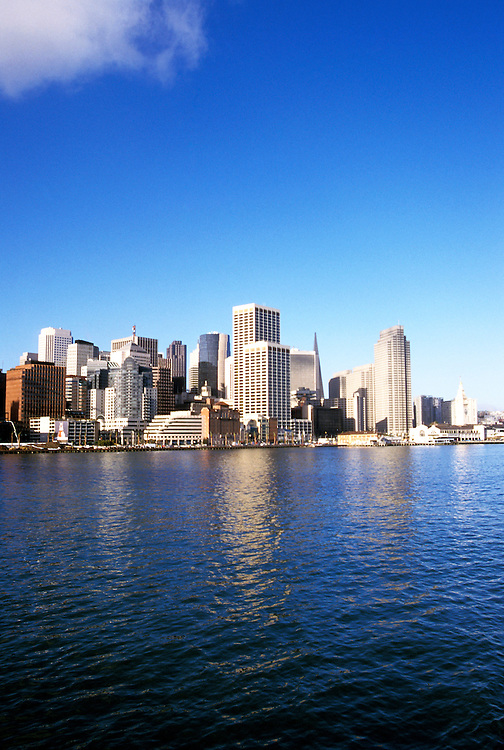 California: San Francisco.  Skyline.  Photo #: casanf103..Photo copyright Lee Foster, 510/549-2202, lee@fostertravel.com, www.fostertravel.com