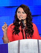 Jennifer Pierotti Lim, Director of Health Policy, U.S. Chamber of Commerce & Co-Founder of Republican Women for Hillary makes remarks during the fourth session of the 2016 Democratic National Convention at the Wells Fargo Center in Philadelphia, Pennsylvania on Thursday, July 28, 2016.<br /> Credit: Ron Sachs / CNP<br /> (RESTRICTION: NO New York or New Jersey Newspapers or newspapers within a 75 mile radius of New York City)