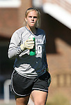 14 October 2007: North Carolina's Anna Rodenbough. The University of North Carolina Tar Heels defeated the Wake Forest University Demon Deacons 1-0 at Fetzer Field in Chapel Hill, North Carolina in an Atlantic Coast Conference NCAA Division I Womens Soccer game.