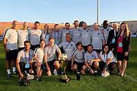 Aidy Boothroyd celebrates winning the 2018 Trophy with his coaching team and the FA staff during Mexico Under-21 vs England Under-21, Tournoi Maurice Revello Final Football at Stade Francis Turcan on 9th June 2018