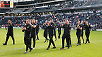 The men in black during the English League One match at  Stadium MK, Milton Keynes. Picture date: April 22nd 2017. Pic credit should read: Simon Bellis/Sportimage