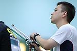 Yoshinobu Sonoda (JPN), <br /> AUGUST 21, 2018 - Shooting : <br /> Men's 10m Air Pistol <br /> at Jakabaring Sport Center Shooting Range <br /> during the 2018 Jakarta Palembang Asian Games <br /> in Palembang, Indonesia. <br /> (Photo by Yohei Osada/AFLO SPORT)
