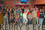 6692-6695.Party Night - John Galvin,from Ardfert, seated centre having a great time with friends and family at his 21st birthday bash in McElligot's Bar, Ardfert on Friday night............................................................................................................................ ............