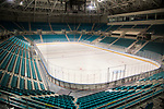 Gangneung Hockey Centre, Oct 30, 2017 : Gangneung Hockey Centre in Gangneung Olympic Park of the 2018 PyeongChang Winter Olympics is seen in Gangneung, east of Seoul, South Korea. The 23rd Winter Olympics will be held for 17 days from February 9 - 25, 2018. The opening and closing ceremonies and most snow sports will take place in PyeongChang county. Jeongseon county will host Alpine speed events and ice sports will be held in the coast city of Gangneung. (Photo by Lee Jae-Won/AFLO) (SOUTH KOREA)