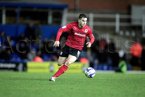 01.01.2013. Birmingham, England. Craig Conway in action during the Championship game between Birmingham City and Cardiff City from St Andrews.