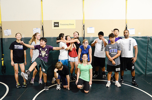 The Harker School - 2013 Summer Programs - Sports Camp - TRX Camp - Held at Blackford Wrestling Gym  - Photo by Kyle Cavallaro