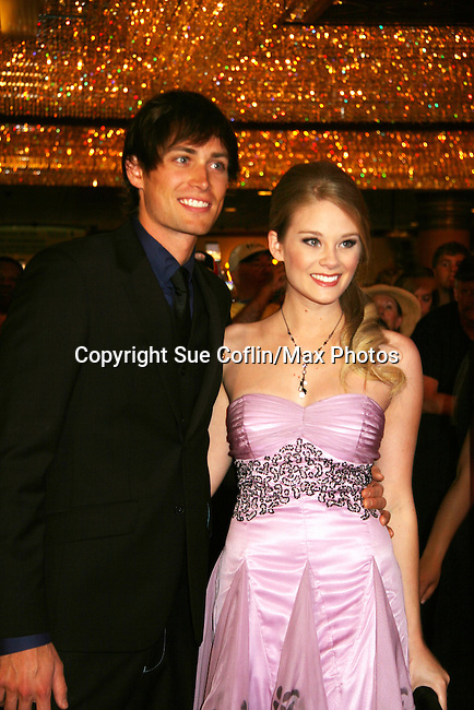 Zach Conroy & Molly Barnett - Red Carpet - 37th Annual Daytime Emmy Awards on June 27, 2010 at Las Vegas Hilton, Las Vegas, Nevada, USA. (Photo by Sue Coflin/Max Photos)