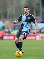 Goal scorer Luke O'Nien of Wycombe Wanderers in action during the Sky Bet League 2 match between Wycombe Wanderers and Bristol Rovers at Adams Park, High Wycombe, England on 27 February 2016. Photo by Andy Rowland.