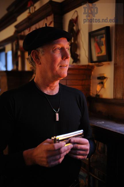 Eugene Halton in his home..Photo by Matt Cashore.