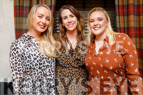 Carrie Locke, Stephanie Horan and Alison O'Connor enjoying the evening in Cassidys on Friday.