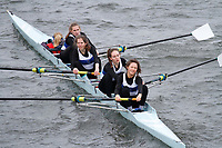 Crew: 335  George Heriots Sch  Event: Girls Fours<br /> <br /> Schools' Head of the River 2017<br /> <br /> To purchase this photo, or to see pricing information for Prints and Downloads, click the blue 'Add to Cart' button at the top-right of the page.