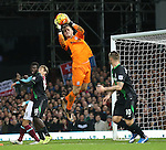 Stoke's Jack Butland makes a save<br /> <br /> Barclays Premier League - West Ham United v Stoke City - Upton Park - England -12th December 2015 - Picture David Klein/Sportimage