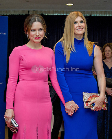Actresses Sophia Bush, left, and Connie Britton, right, arrive for the 2016 White House Correspondents Association Annual Dinner at the Washington Hilton Hotel on Saturday, April 30, 2016.<br /> Credit: Ron Sachs / CNP<br /> (RESTRICTION: NO New York or New Jersey Newspapers or newspapers within a 75 mile radius of New York City)/MediaPunch