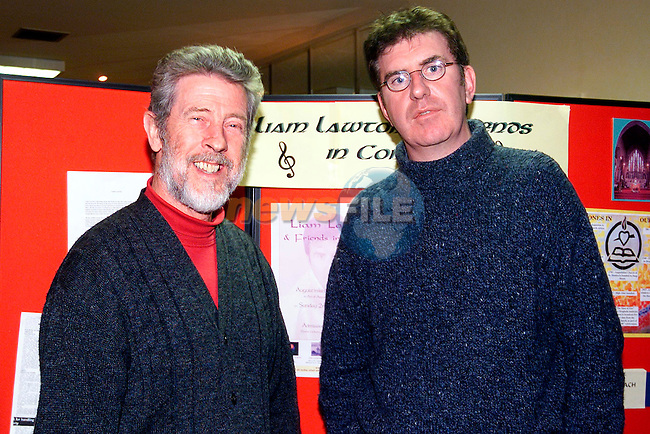 Seamus Humphreys OSA and Liam Lawton in the Glenside Hotel to announce details of Liam's forthcoming concert in the Augustinian Church on Sunday the 2nd of December..Picture: Paul Mohan/Newsfile