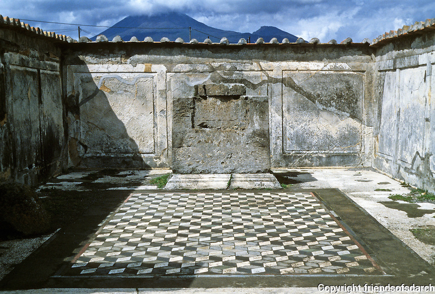 Italy: Pompeii. Mount Vesuvius in background. Photo '83.