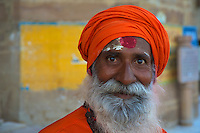 Sadhu at the River Ganges Varanasi India