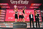 Jan Polanc (SLO) UAE Team Emirates takes over the race leaders Maglia Rosa at the end of Stage 12 of the 2019 Giro d'Italia, running 158km from Cuneo to Pinerolo, Italy. 23rd May 2019<br /> Picture: Massimo Paolone/LaPresse | Cyclefile<br /> <br /> All photos usage must carry mandatory copyright credit (© Cyclefile | Massimo Paolone/LaPresse)