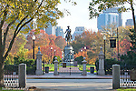 The George Washington statue (Thomas Ball, 1869) in the Boston Public Garden, Boston, Massachusetts, USA (Statue is PUBLIC DOMAIN)
