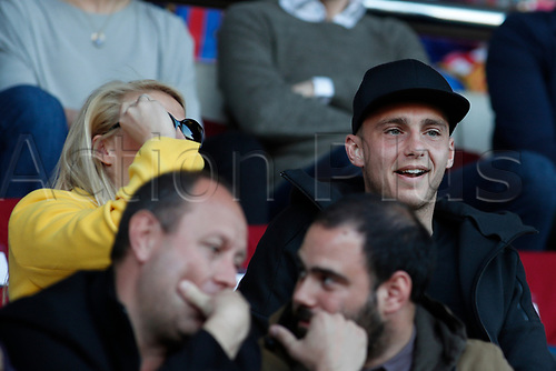 28th March 2018, Mini Estad, Barcelona, Spain; Womens Champions League football, quarter final, 2nd leg, Barcelona Women versus Lyon Women; Jasper Cillessen of FC Barcelona follows the match