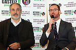 Vitoria Gasteiz-Capital de la Gastronomia 2014.<br /> Presentacion en Barcelona-Mercat de la Boqueria.<br /> Andoni Zubizarreta &amp; Javier Maroto.