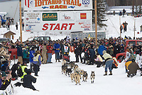Matt Hayashida Willow restart Iditarod 2008.